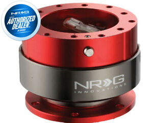 New Nrg Steering Wheel Quick Release Gen 2 0 Red Body Titanium Ring Srk 200rd