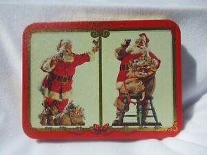 Limited Edition 1994 Coca Cola Xmas Card Tin with Cards