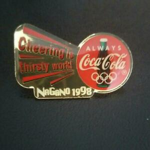Coca Cola Pin Badge Nagano Olympics