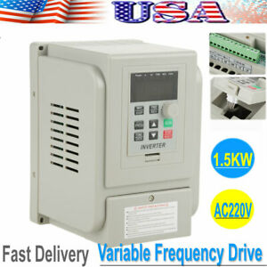 Ac220v 2hp 1 5kw 8a Vfd Variable Frequency Drive Inverter Controller Converter