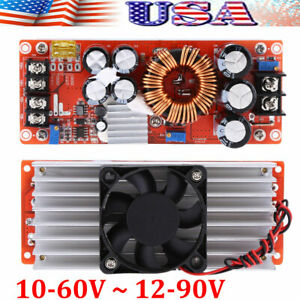 1500w Dc dc Boost Converter 10 60v 12 90v Step up Power Supply Module 30a