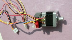 Stepper Motor With Encoder For Position Feedback W Drive Pulley For Experiments