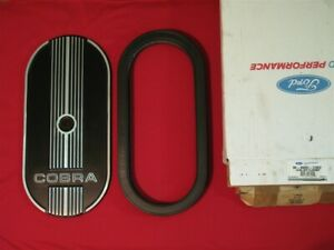 Ford Cobra Oval Air Cleaner Lid M 9600 c302 New With Baldwin Air Filter Pa 632