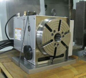 Haas 210 Rotary Table Model Hrt210sp Saves Table Space Pneumatic Tailstock