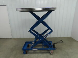 Vestil Cart 1500 d ts Hydraulic Elevating Cart 19 to 68 Height 47 5 x24 top