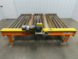 Versa Powered Live Roller Case Pallet Conveyor 68 x 87 3ph 46fpm Fork Pockets