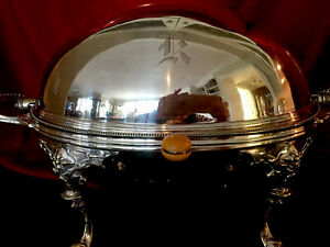 Antique Silver Plated Roll Top