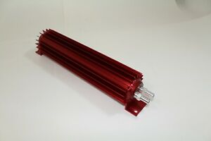 Universal 12 Dual Pass Aluminum Transmission Oil Cooler Red Finned