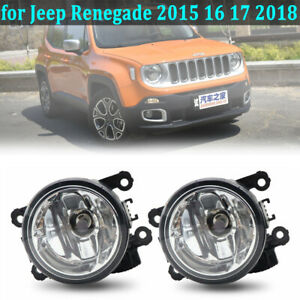 Bumper Fog Light For Jeep Renegade 2015 2016 2017 2018 Driving Lamp W bulb Lh Rh