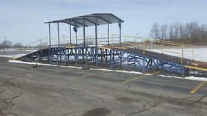 80 Foot Car Dealer Auto Auction Display Salvage Inspection Ramp
