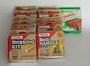 Lot Of 12 Box Mail Away Strapping Kit Redi handle Strap And Carry System