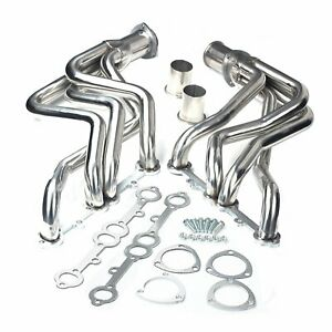 Small Block Chevy Sbc Long Tube Headers Stainless Steel Fits Chevy Truck