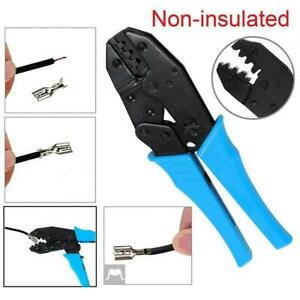 Electrical Non insulated Cable Crimper Ferrule Ratchet Cutters Wire Plier