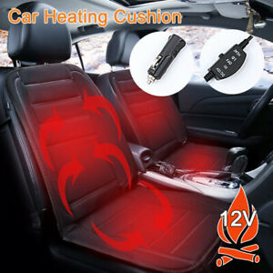 1 2pcs Universal Car Heated Seat Cushion Cover 12v Heating Heater Warmer