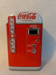 Coca Cola Vending Machine Tin Can Vintage with Original Tags