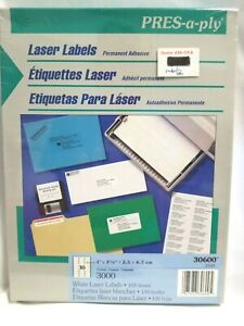 Pres a ply Laser Address White Labels 1 X 2 5 8 3000 Labels same As Avery 5160