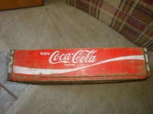 REDUCED Vintage Coca Cola Wooden Box-Soda-Advertising-Pop-18 1/2 X 12 X 4-(S)