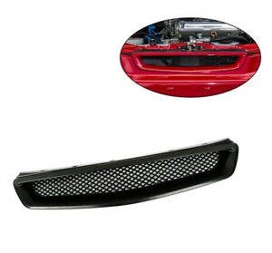 For 96 98 Honda Civic Ej ek Jdm Type R Black Mesh Abs Front Hood Grille Grill