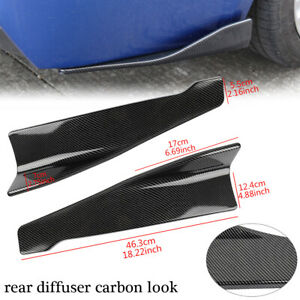 2pcs Universal Car Rear Bumper Lip Diffuser Splitter Canard Protector Body Kit