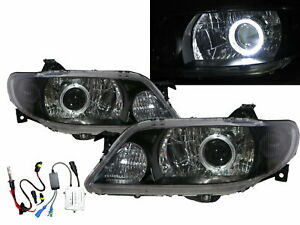 Protege Bj Mk8 01 03 Guide Led Halo Projector Hid Headlight Black For Mazda Lhd