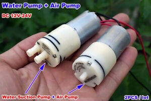 Dc 12v 24v Mini 370 Motor Air Oxygen Pump Small Water Pressure Suction Pump Diy