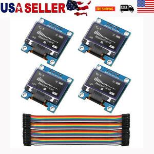 4pcs I2c Oled Oled Display Module 0 96 Wire 40 pin For Arduino Uno R3 Stm Us