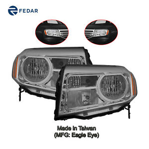 Halogen Headlight Lamp Fit 2012 2013 2014 2015 Honda Pilot Pair