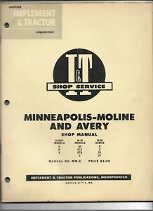 I t Shop Service Manual Minneapolis Moline Bf Gta Gtb V R U Za Zt Avery A R V