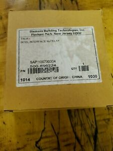 New Siemens Tri r Intel Interface W Relay 500 896224 Fire Alarm