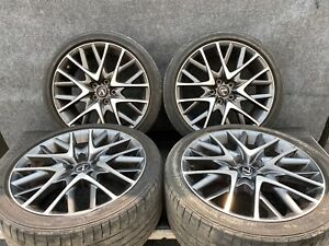 Lexus 15 19 Rc200t Rc350 F Sport 19 Rims Wheels Set Staggered Assembly Oem