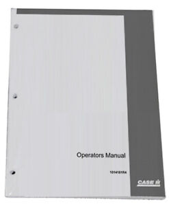 Case Ih 400 400 High Clearance Diesel Owners Operators Instruction Manual