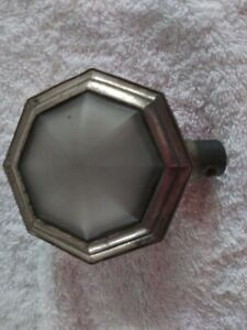 Antique Vintage Art Deco Car 3 Courtesy Dome Light Frosted Etched Glass
