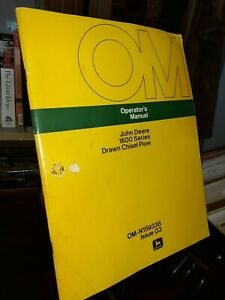 John Deere 1600 Series Drawn Chisel Plow Operators Manual Omn159338 Issue G3