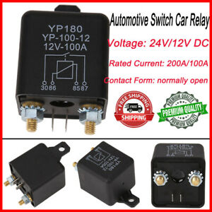 Car Truck Motor Automotive Relay 24v 12v 200a 100a Continuous Type Automoti