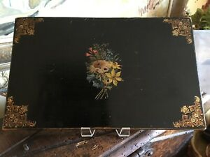 Antique Decorative French Box With 10 Yarns Provence Sewing Notions