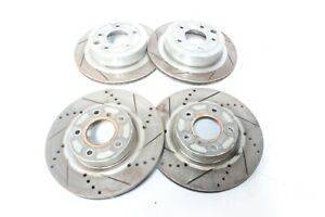 2005 Nissan 350z M T Non Rev Up Front Rear Rotors Set Of 4 L3299