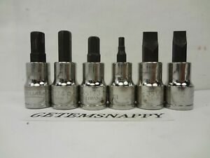 Williams 3 8 Drive 6pc Metric Hex Allen Socket Set Screwdriver Set Nice
