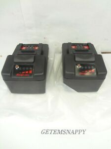 New Snap On 18v Black Monsterlithium Battery Set For Impact Drill Light Ctb8187