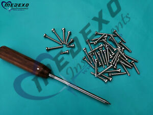 Cortical Screws 3 5mm Self Tapping 200 Pcs With Driver Orthopedics Instrument