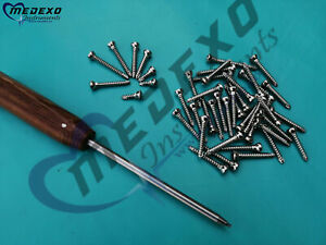 Cortical Screws 4 5mm Self Tapping 200 Pcs With Driver Orthopedics Instrument