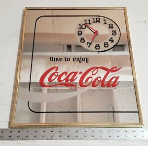 Vintage Drink Coca-Cola Mirror Graphic Clock - Wall Art/Picture/Sign/Clock