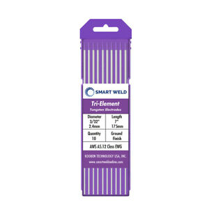 Purple Tig Welding Tungsten Electrode 3 32 10 Pack Ewg Comparable With E3