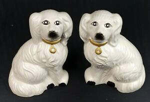 Antique Vintage Asian Foo Fu Temple Guardian Dogs Of Fo Porcelain Taiwan Rare