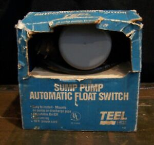 Teel 10jsd1wp Sump Pump Auto Float Switch 1 2p313 155 Volt