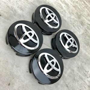 4 Pcs Black For Toyota Camry Avalon 42603 06080 Wheel Center Hubcaps 62mm 2 5