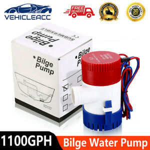 Electric Marine Submersible Bilge Sump Water Pump For Boat Yacht 1100gph 12v