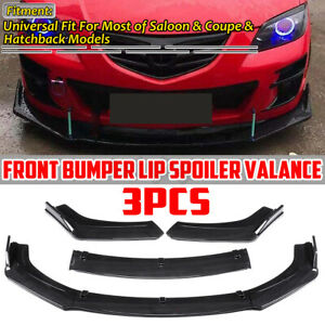 For Mazda 3 5 6 Alexa Cx 5 Cx5 Carbon Look Front Bumper Lip Spoiler Splitter 3x