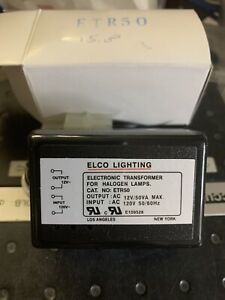 Elco Lighting Etr50 Low voltage Electronic Lighting Transformer 12vac Out 120v