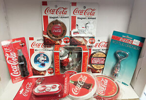 Coca-Cola Collectibles New in Package - Magnets  Coasters  Bottle Openers 10 pcs