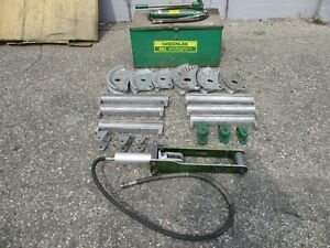 Greenlee 882 cb Flip Top Hydraulic Pipe Bender 1 1 4 2 Rigid Imc Emt 882